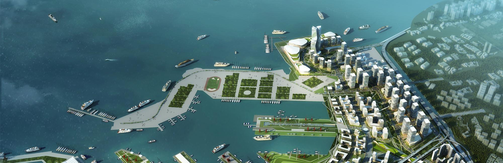 青岛国际邮轮港概念规划